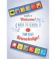 Back to school and education typographical vector image