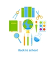 Back to school background with supplies vector image vector image