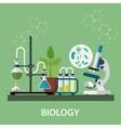 Biology laboratory workspace vector image vector image