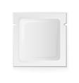 Blank white plastic sachet vector image vector image