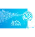 Blue winter tree background vector image vector image