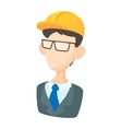 Builder icon in cartoon style vector image vector image