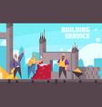 building service vector image