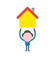 businessman holding up house vector image