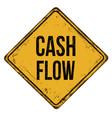 cash flow vintage rusty metal sign vector image vector image