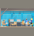 character work study in modern coworking area vector image vector image