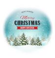 christmas landscape postcard vector image vector image