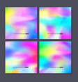 colourful backgrounds set mesh template vector image vector image