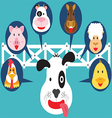 Cute Animal in Farm Flat Cartoon vector image