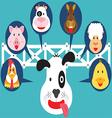 Cute Animal in Farm Flat Cartoon vector image