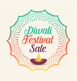diwali festival sale with mandala style decoration vector image