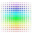 filled square rounded shape halftone spectrum grid vector image