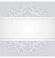 floral swirl white 3d invitation cards vector image