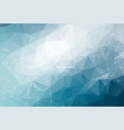 geometric light blue polygonal background vector image vector image