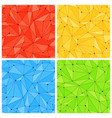 geometric mesh seamless patterns vector image