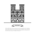 Grand Opera building vector image