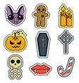 halloween set icon flat design