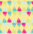 hand painted pastel triangles on yellow vector image vector image