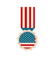 happy independence day american flag medal vector image vector image