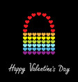 happy valentines day rainbow flag bag icon heart vector image vector image