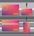 Id card abstract vector image