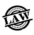 Law rubber stamp vector image vector image