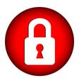 Lock button vector image vector image