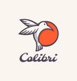 logo bird simple mascot style vector image