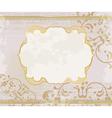 lucid gold frame background vector image