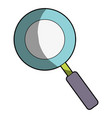 magnifying glass symbol to search and exploration vector image vector image