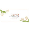 modern mother day holiday banner spring floral vector image vector image