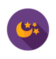 Moon with Three Stars Flat Icon vector image vector image
