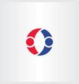 people dancing logo letter o symbol design element vector image vector image