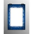 Poster Frame Falling Snow Blue Background vector image vector image