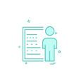 presentation icon design vector image