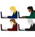 Programmer Working Woman vector image vector image