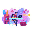 remote worker concept vector image vector image