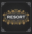 resort and spa logo vintage luxury banner vector image vector image