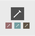 screw icon simple vector image vector image
