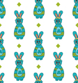 Seamless pattern with Easter bunny-4 vector image
