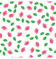 seamless pattern with leaves and lotus vector image