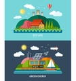 set flat ecology concept backgrounds vector image vector image