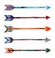 set grunge watercolor ethnic arrows vector image
