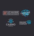 set of retro vintage jackpot slot machine vector image vector image