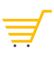 shopping cart trolley supermarket vector image vector image