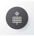 solar panel icon symbol premium quality isolated vector image vector image