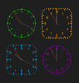 square and round dials with arrows vector image vector image