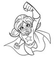 super girl flying line art vector image
