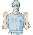 Surgeon vector image vector image