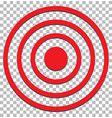 target isolated on transparent target icon flat vector image vector image